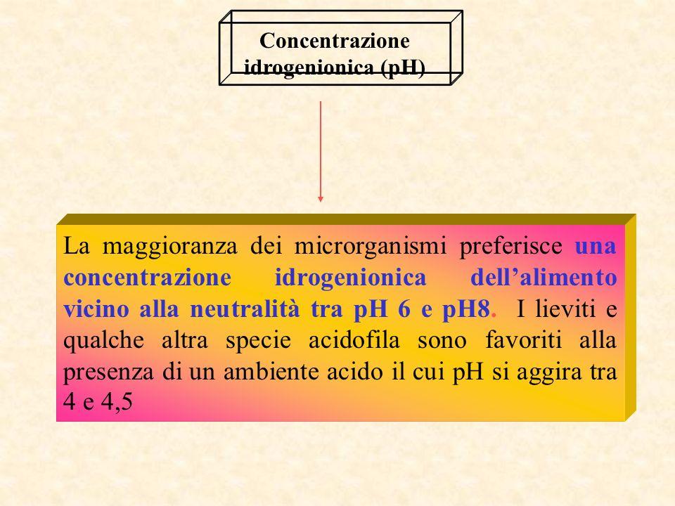 Concentrazione idrogenionica (pH)