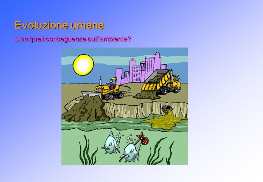 Evoluzione umana Con quali conseguenze sull'ambiente