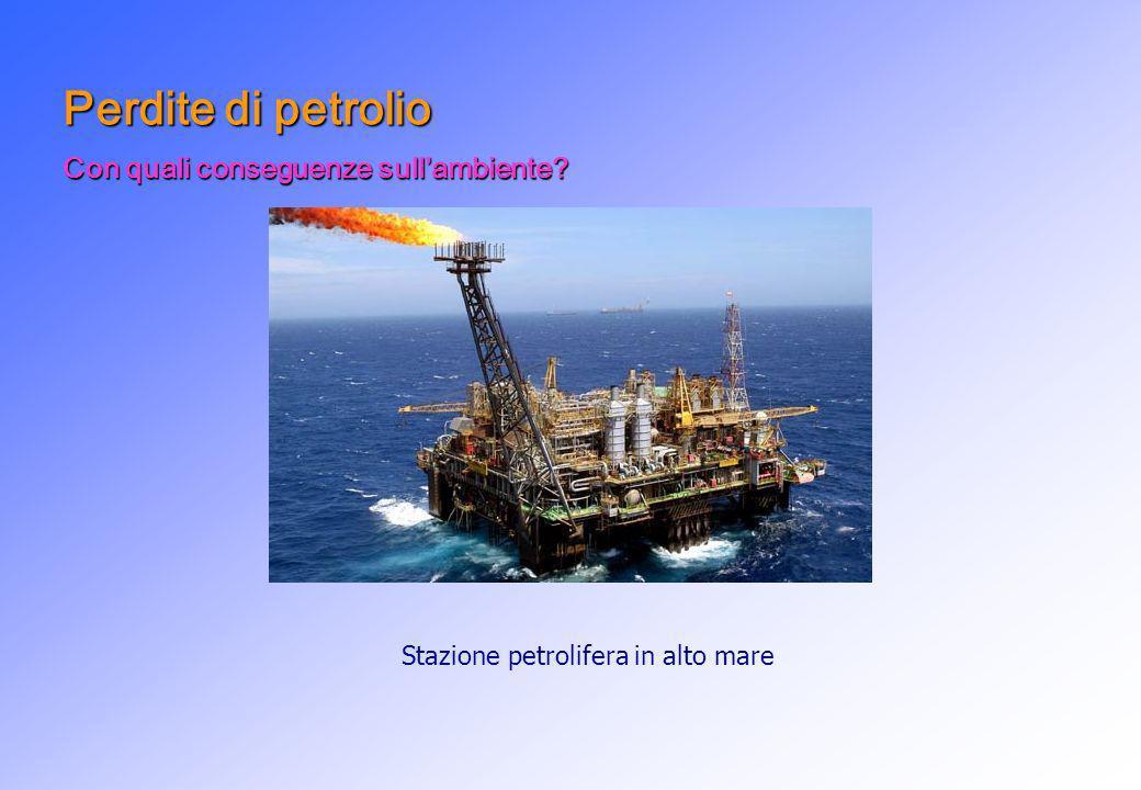 Stazione petrolifera in alto mare