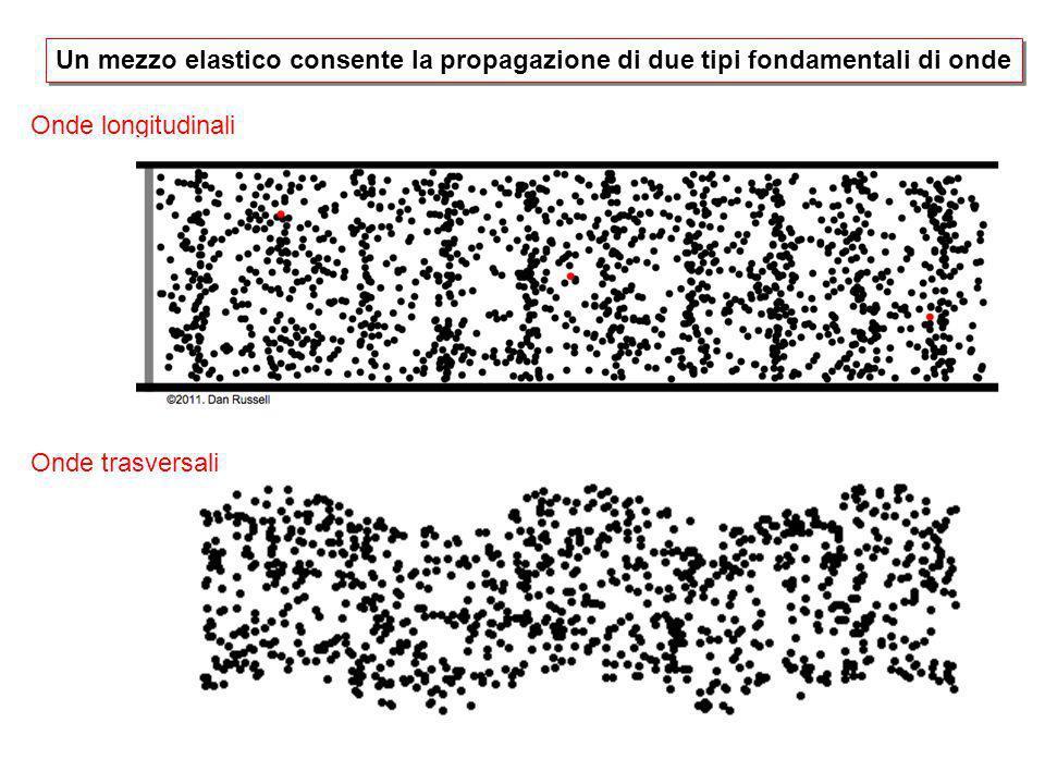 Un mezzo elastico consente la propagazione di due tipi fondamentali di onde