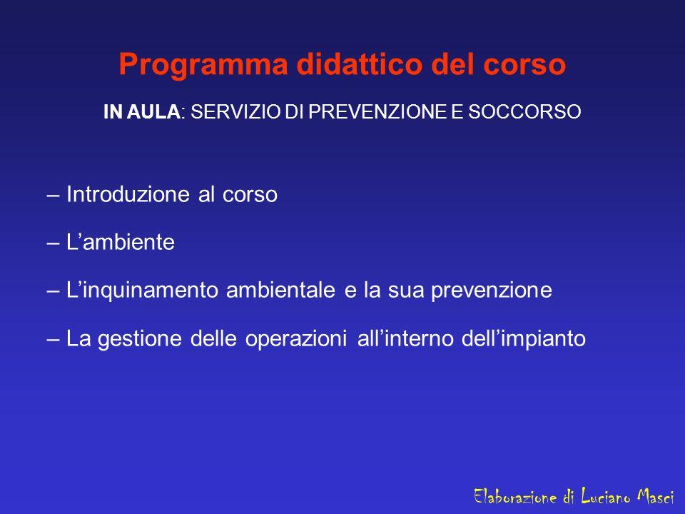 Programma didattico del corso