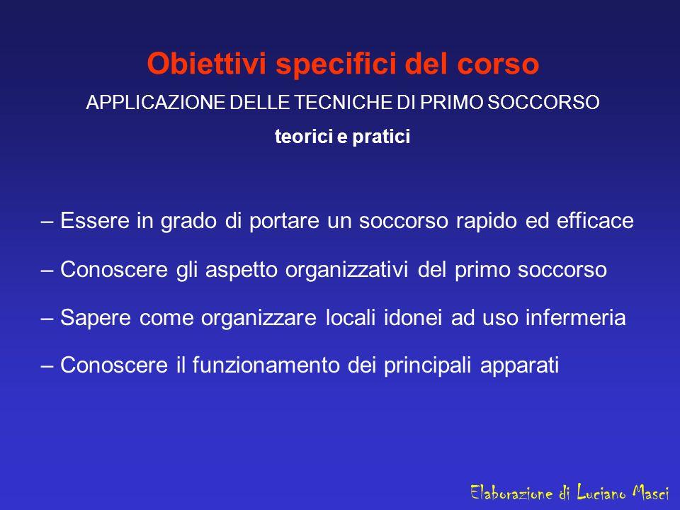 Obiettivi specifici del corso