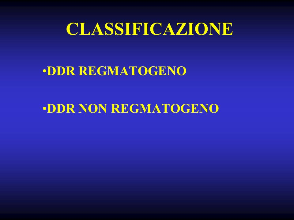 DDR REGMATOGENO DDR NON REGMATOGENO