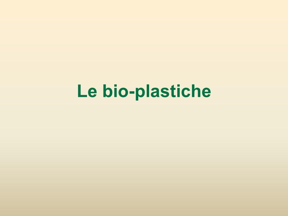 Le bio-plastiche