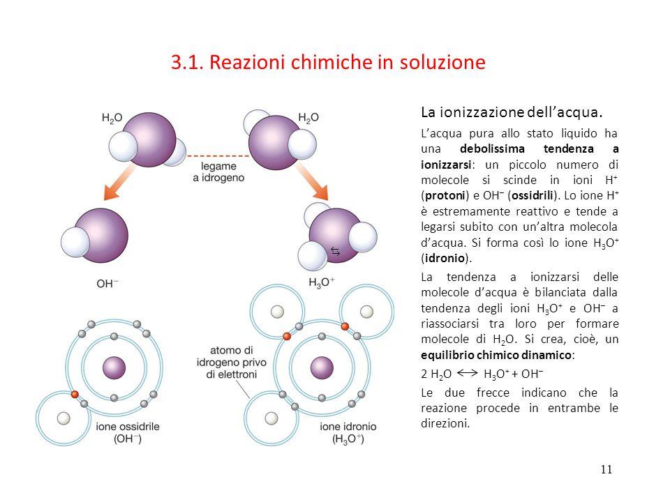 3.1. Reazioni chimiche in soluzione