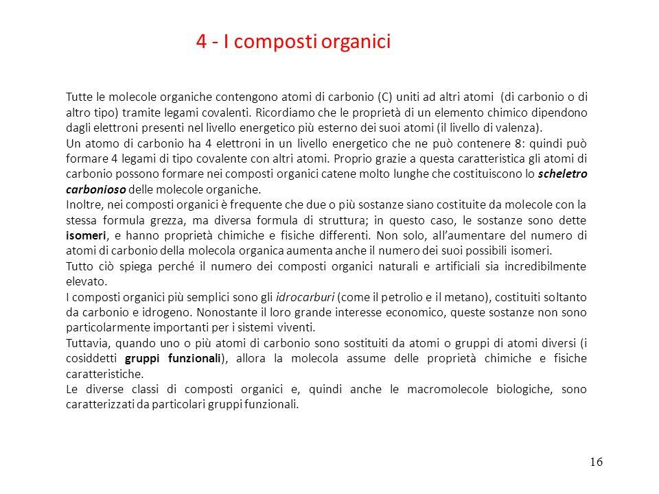 4 - I composti organici