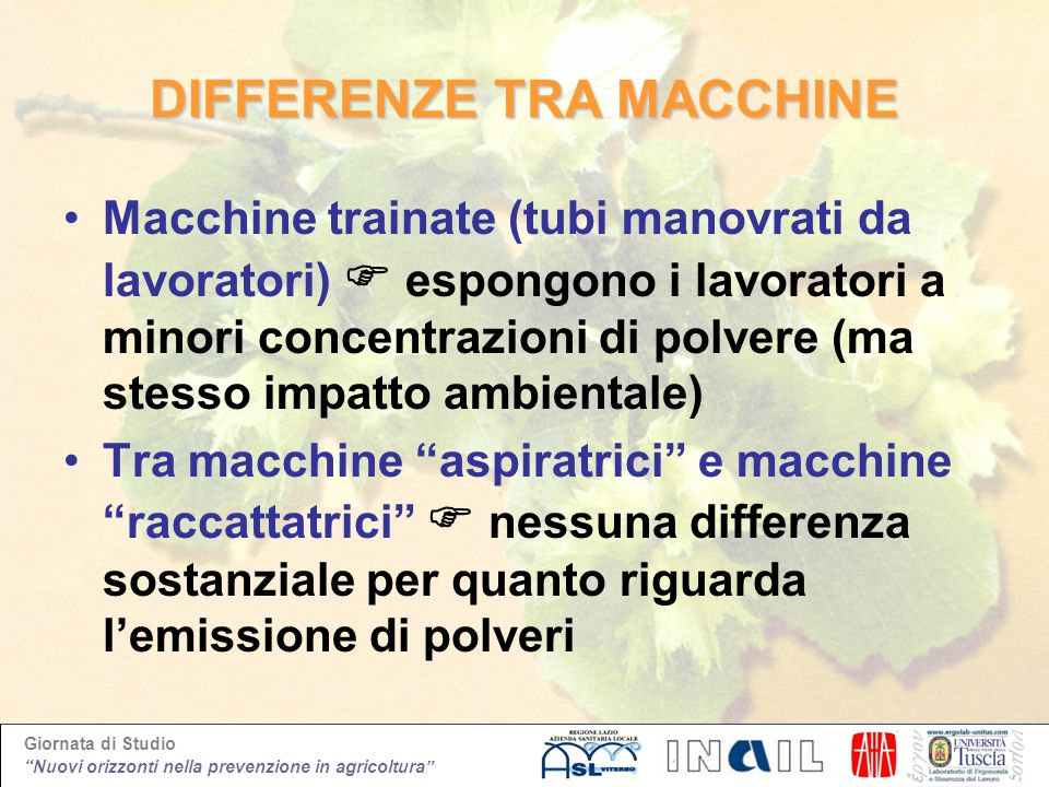 DIFFERENZE TRA MACCHINE