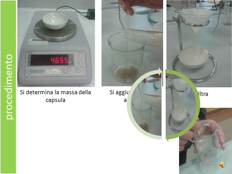 Si determina la massa della capsula