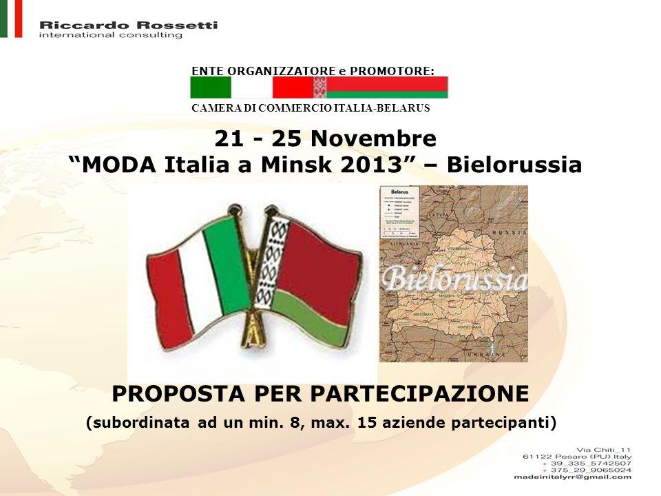 MODA Italia a Minsk 2013 – Bielorussia