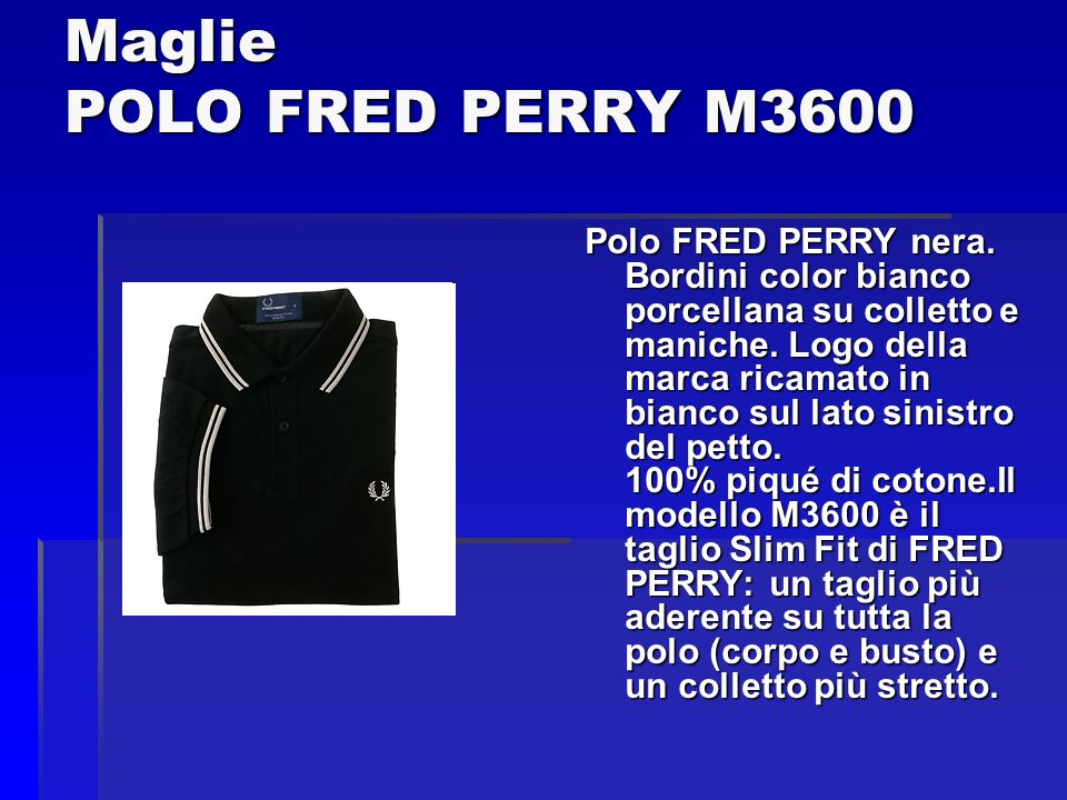 Maglie POLO FRED PERRY M3600