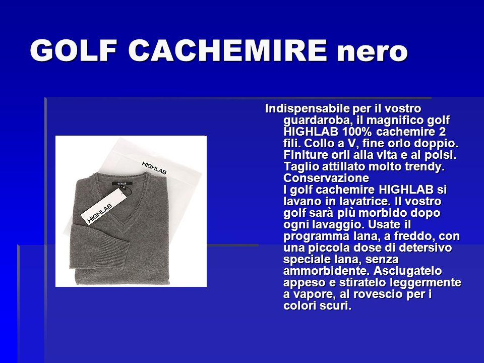 GOLF CACHEMIRE nero
