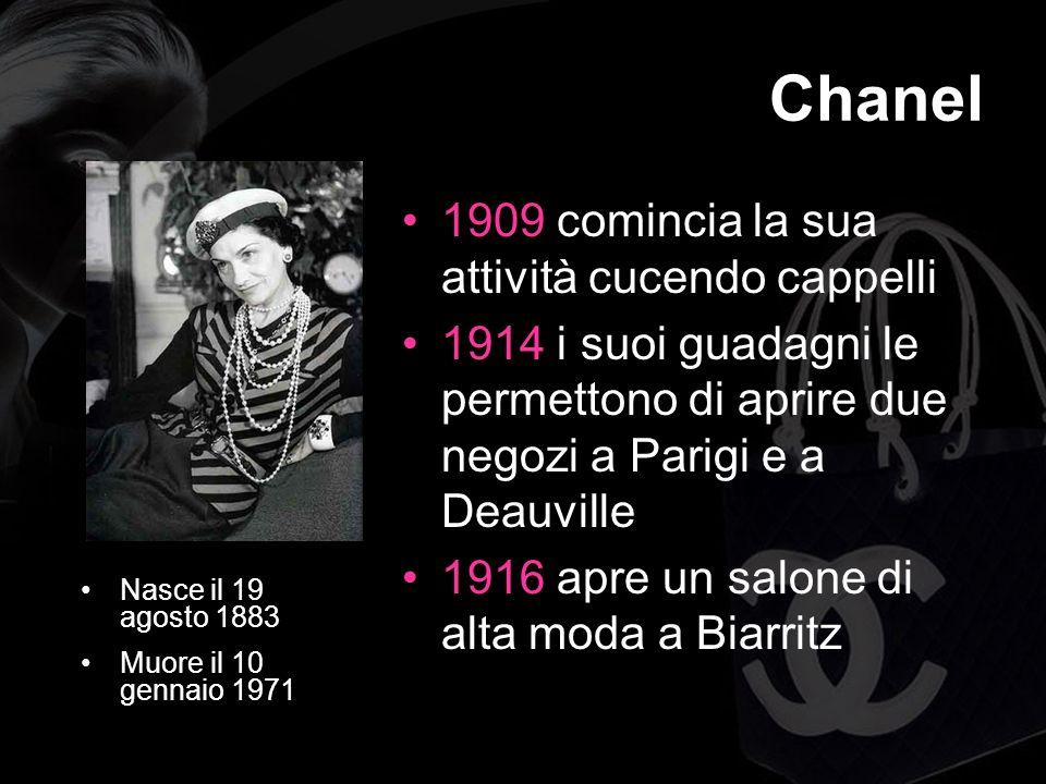 Chanel 1909 comincia la sua attività cucendo cappelli