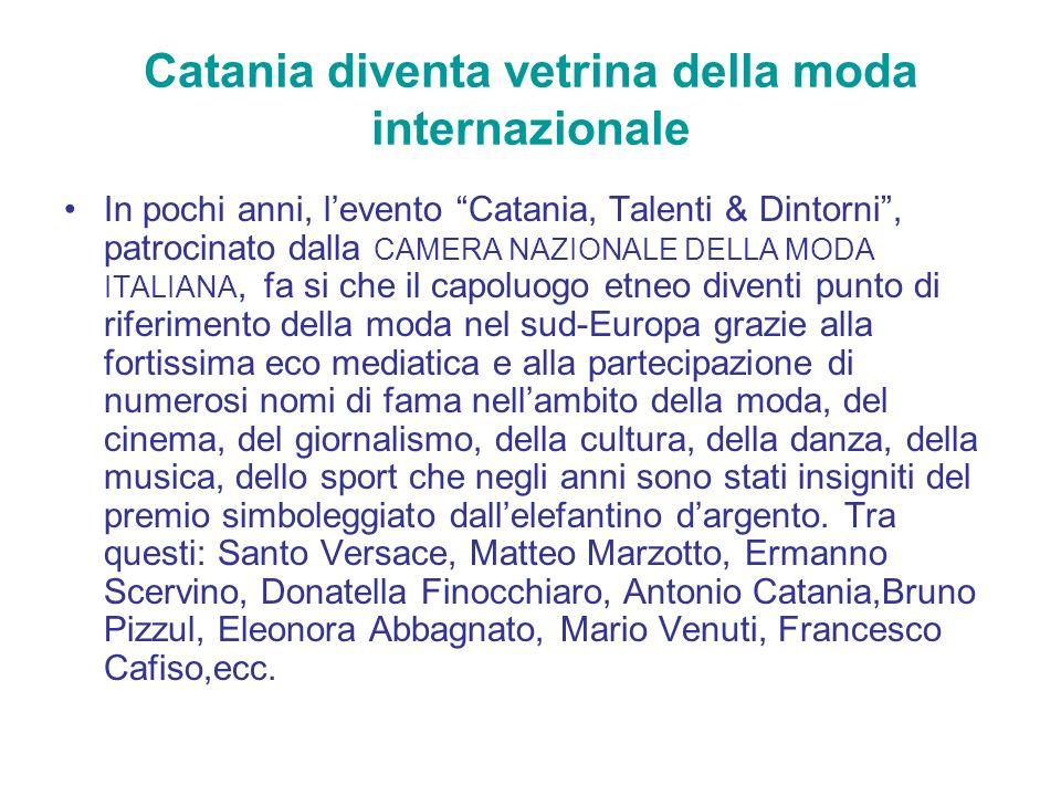 Catania diventa vetrina della moda internazionale