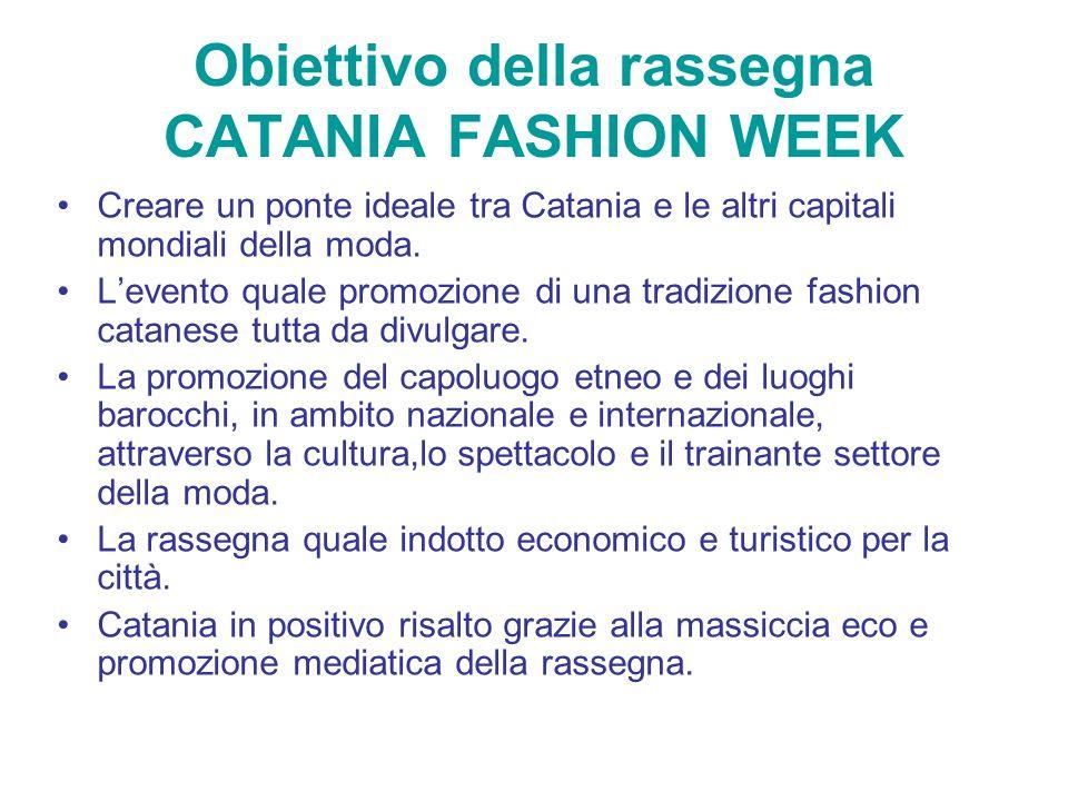 Obiettivo della rassegna CATANIA FASHION WEEK