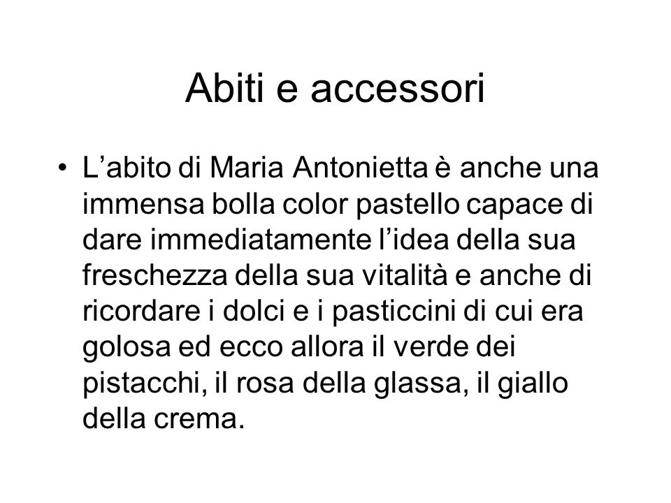 Abiti e accessori