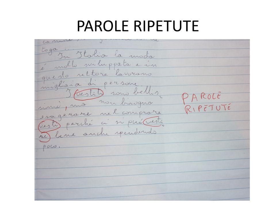 PAROLE RIPETUTE