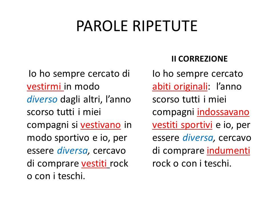PAROLE RIPETUTE II CORREZIONE.