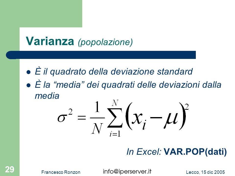 Varianza (popolazione)