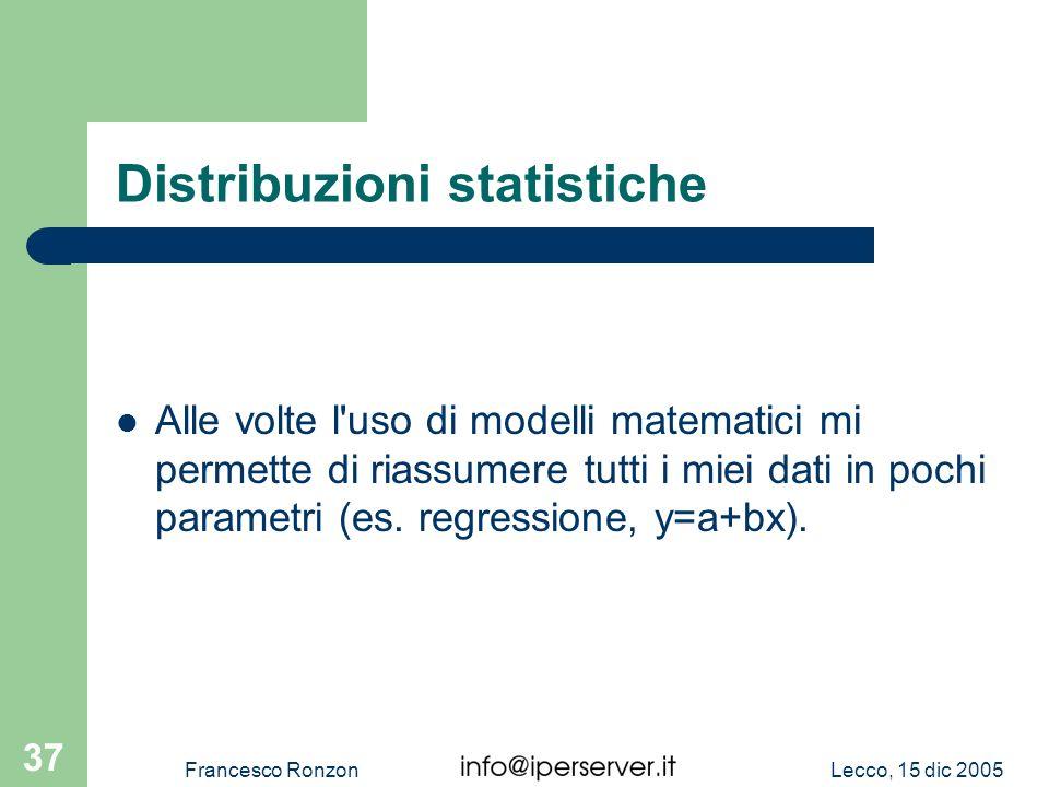 Distribuzioni statistiche