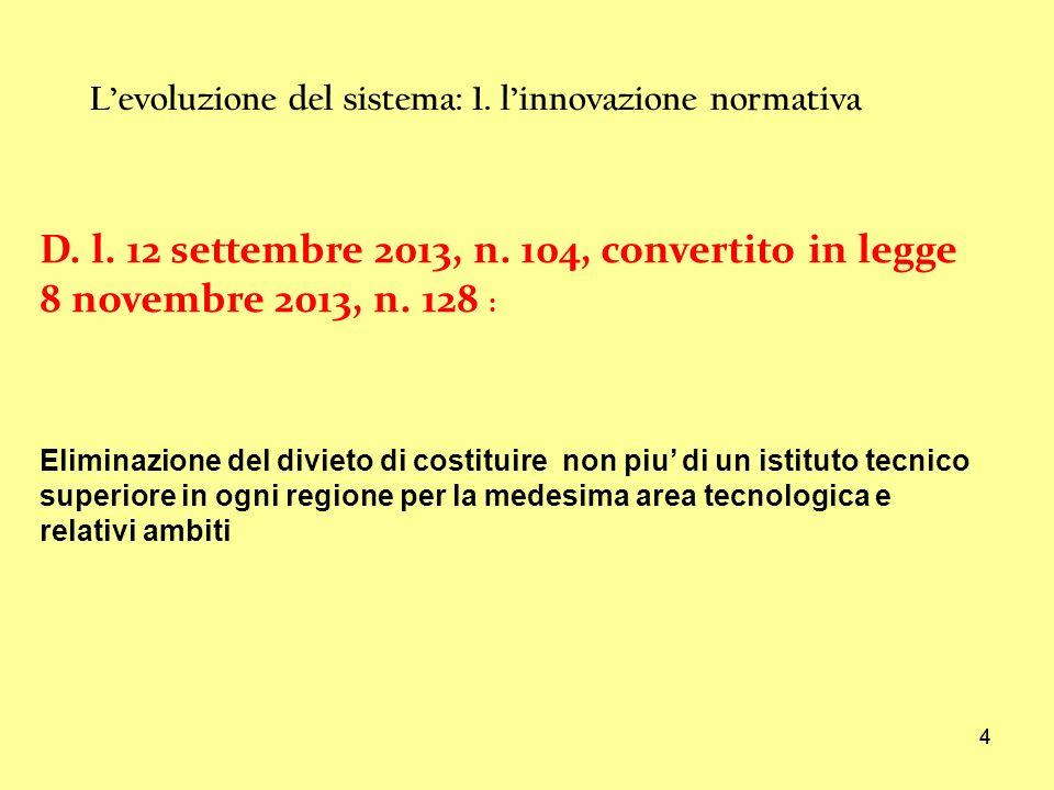 L'evoluzione del sistema: 1. l'innovazione normativa
