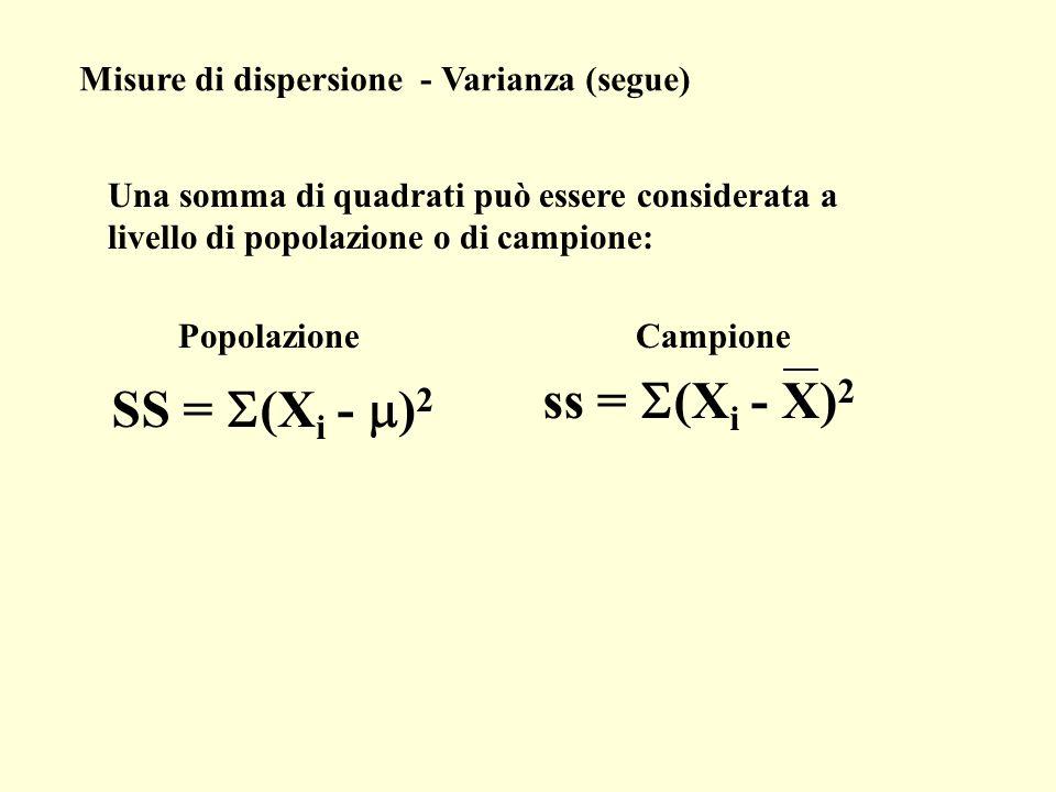ss = S(Xi - X)2 SS = S(Xi - m)2