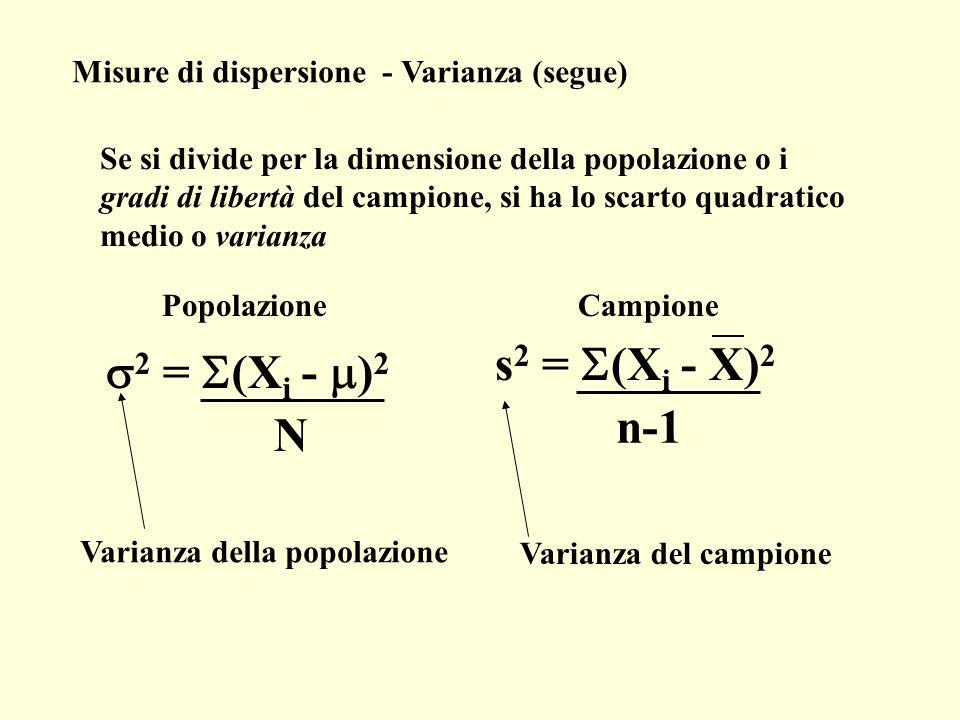 s2 = S(Xi - X)2 s2 = S(Xi - m)2 n-1 N