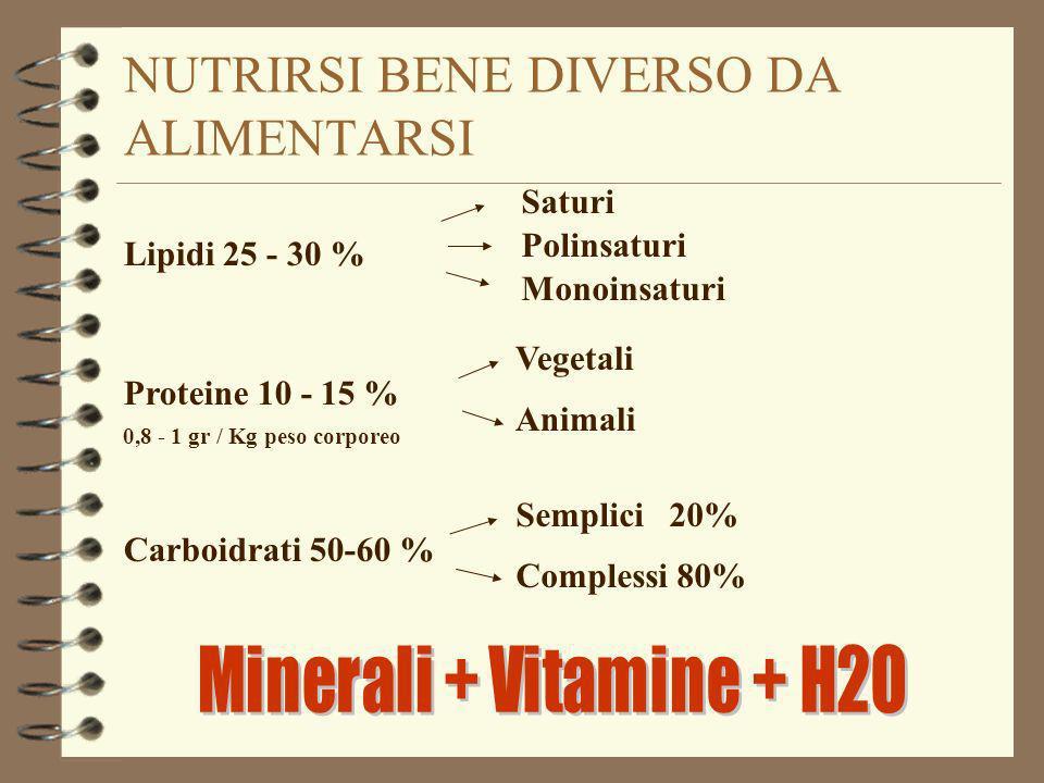 NUTRIRSI BENE DIVERSO DA ALIMENTARSI