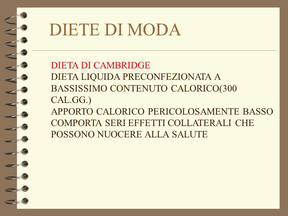 DIETE DI MODA DIETA DI CAMBRIDGE