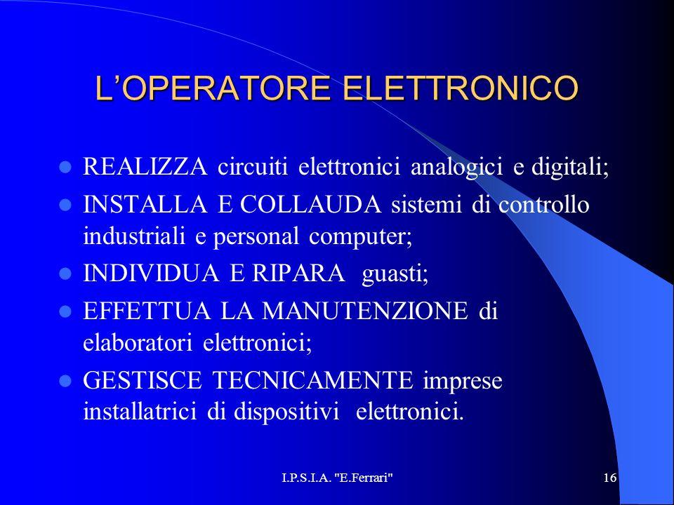 L'OPERATORE ELETTRONICO