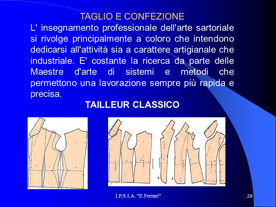 TAGLIO E CONFEZIONE
