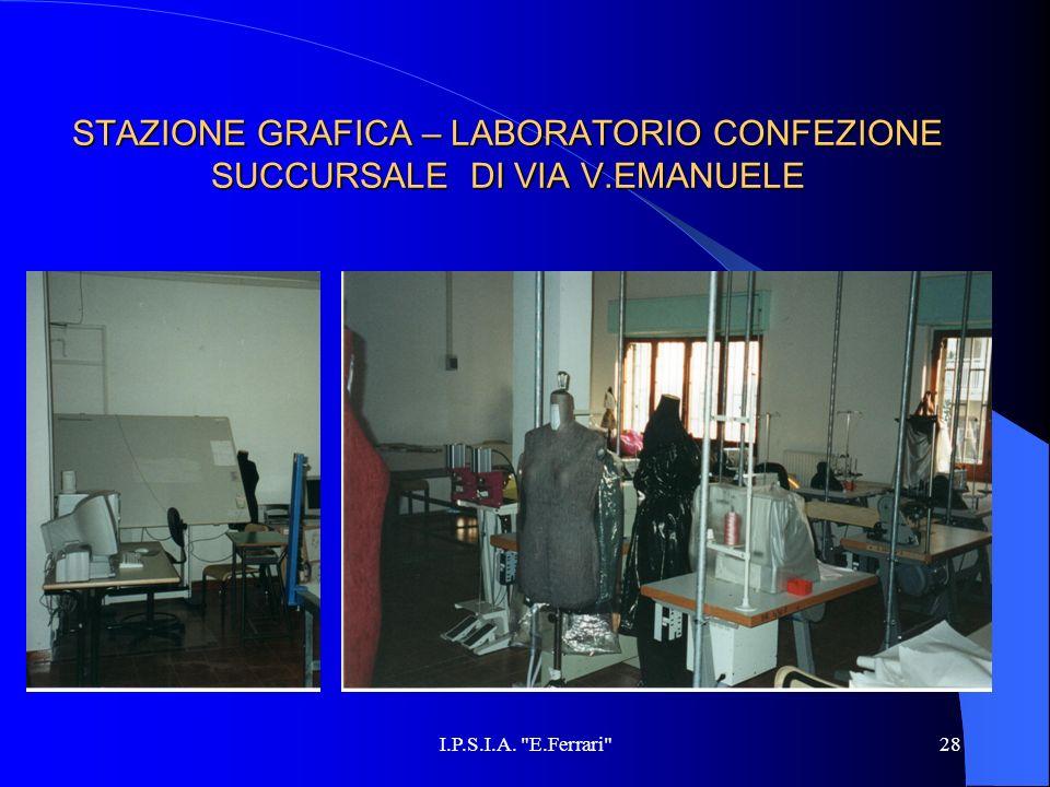 STAZIONE GRAFICA – LABORATORIO CONFEZIONE SUCCURSALE DI VIA V.EMANUELE