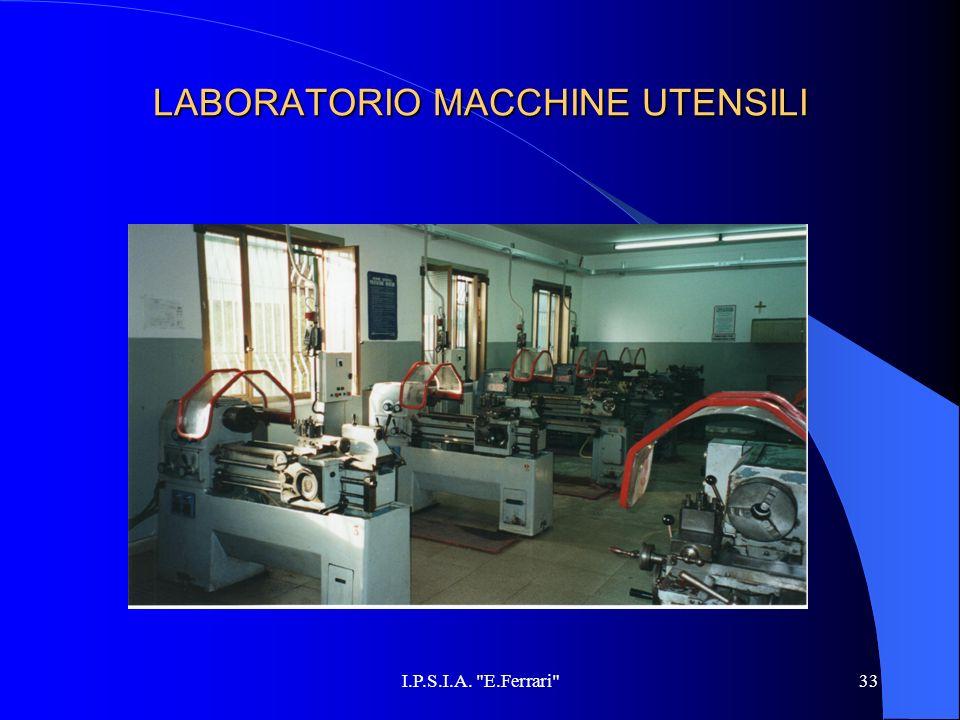 LABORATORIO MACCHINE UTENSILI