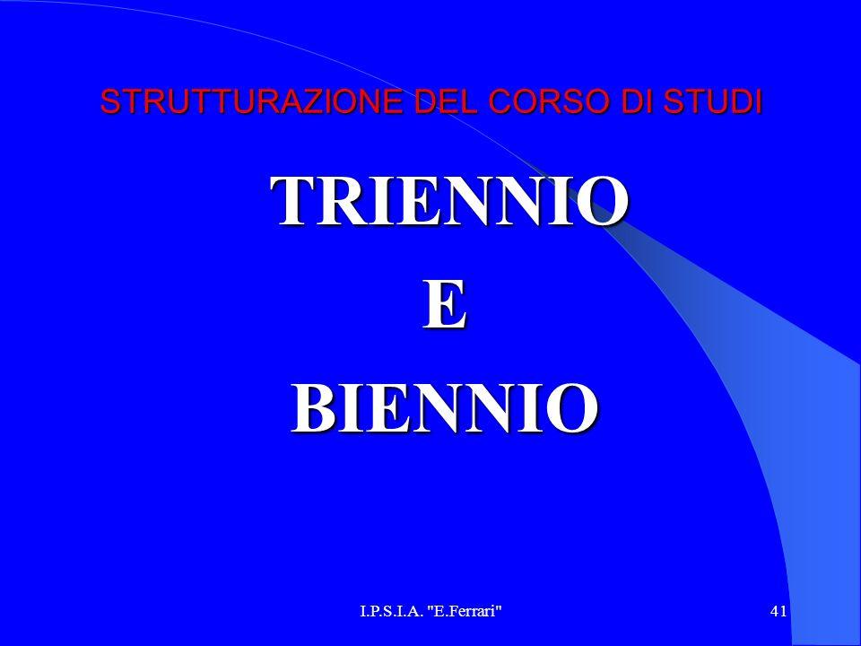 STRUTTURAZIONE DEL CORSO DI STUDI
