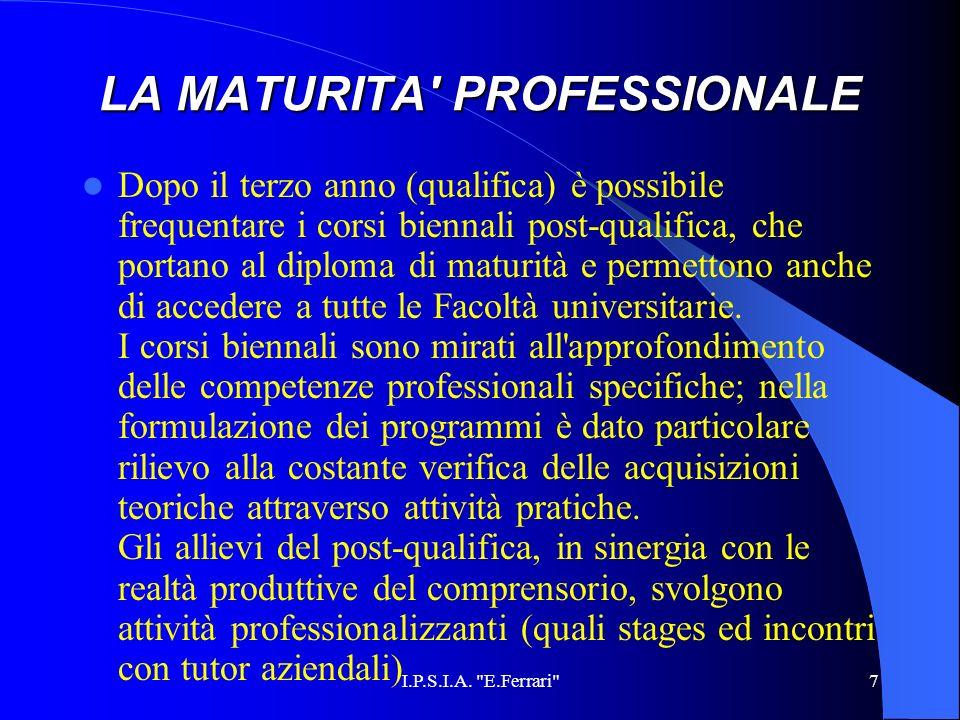 LA MATURITA PROFESSIONALE