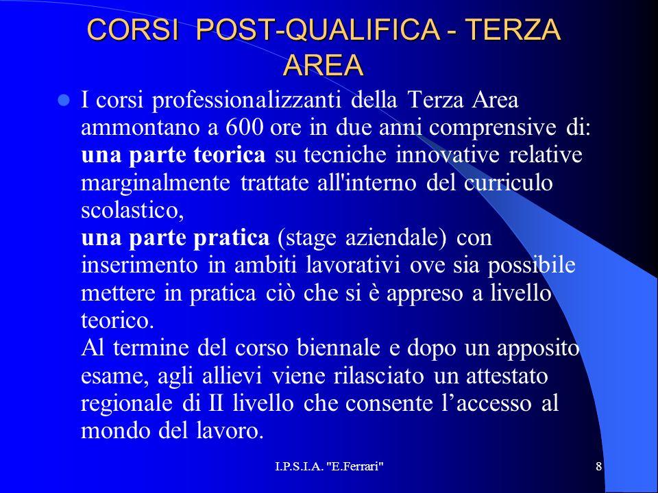 CORSI POST-QUALIFICA - TERZA AREA
