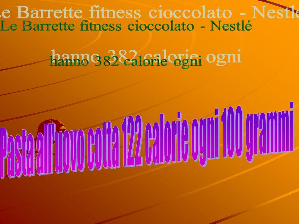 Le Barrette fitness cioccolato - Nestlé hanno 382 calorie ogni
