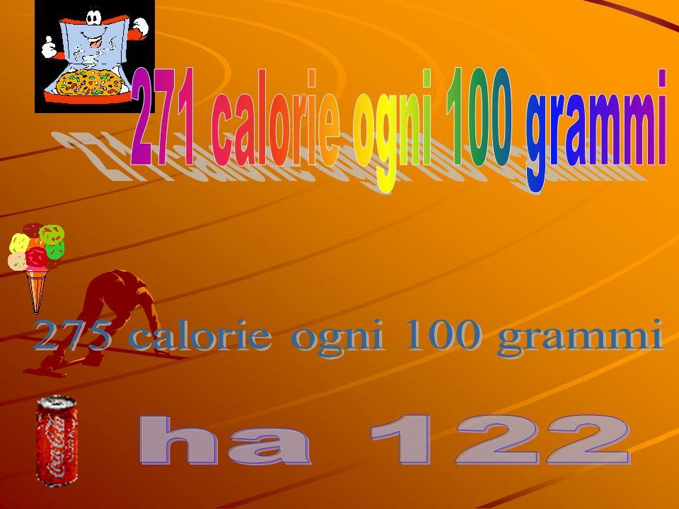 271 calorie ogni 100 grammi 275 calorie ogni 100 grammi ha 122