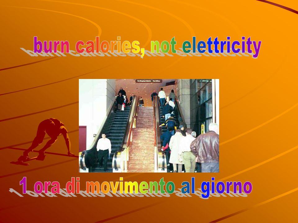 burn calories, not elettricity