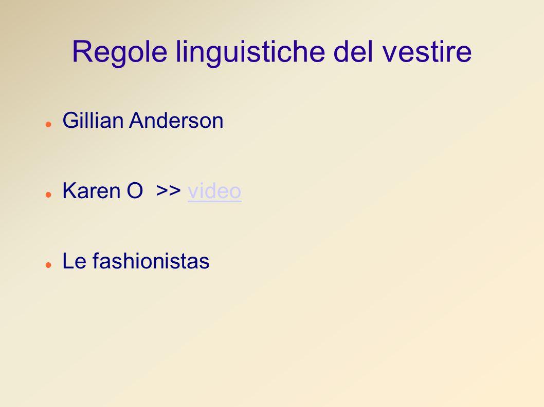 Regole linguistiche del vestire