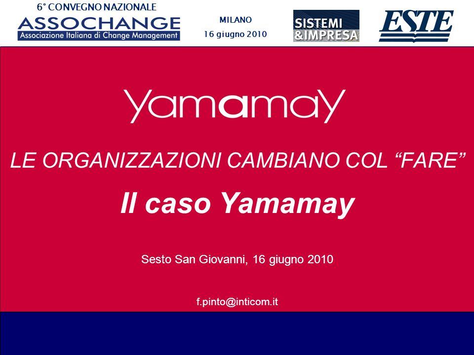 Il caso Yamamay LE ORGANIZZAZIONI CAMBIANO COL FARE