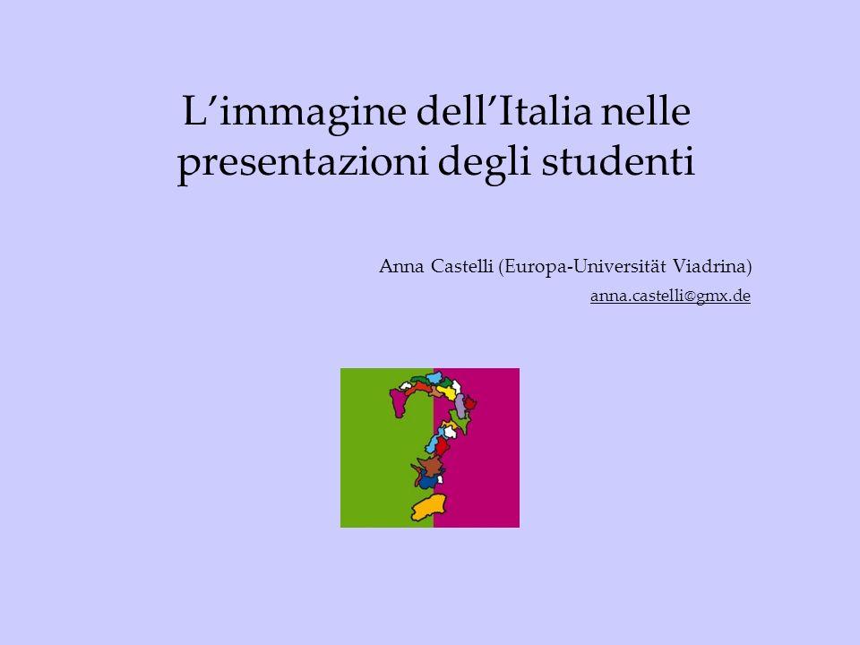 L'immagine dell'Italia nelle presentazioni degli studenti