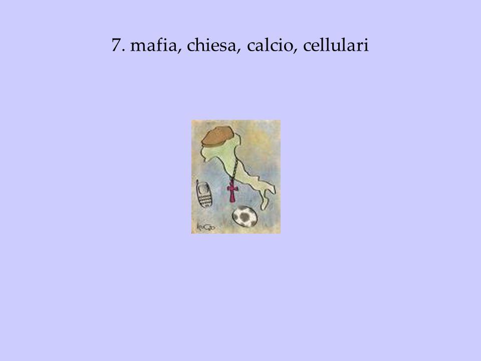 7. mafia, chiesa, calcio, cellulari