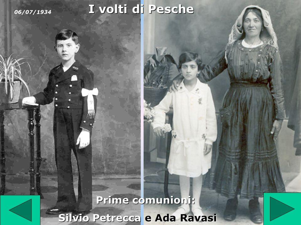 I volti di Pesche Prime comunioni: Silvio Petrecca e Ada Ravasi