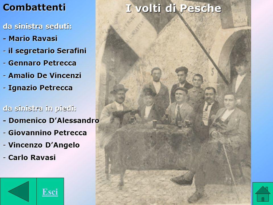 I volti di Pesche Combattenti Esci da sinistra seduti: - Mario Ravasi