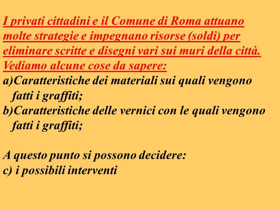 I privati cittadini e il Comune di Roma attuano