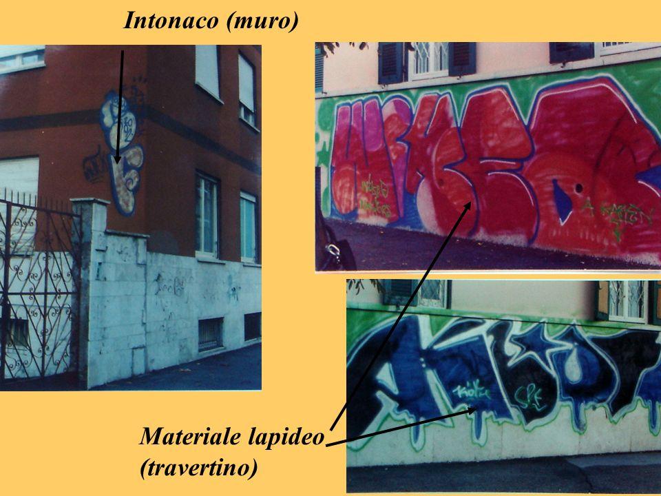 Intonaco (muro) Materiale lapideo (travertino)