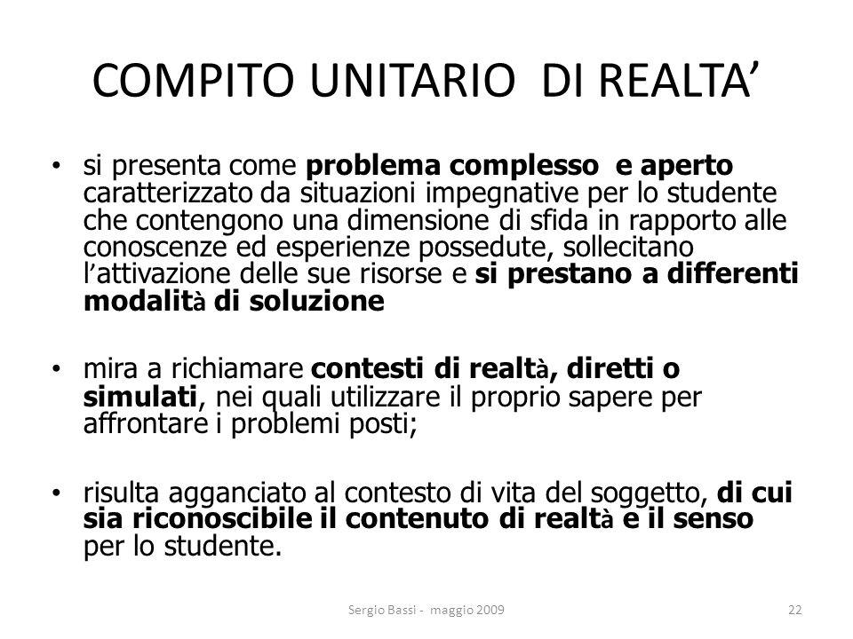 COMPITO UNITARIO DI REALTA'