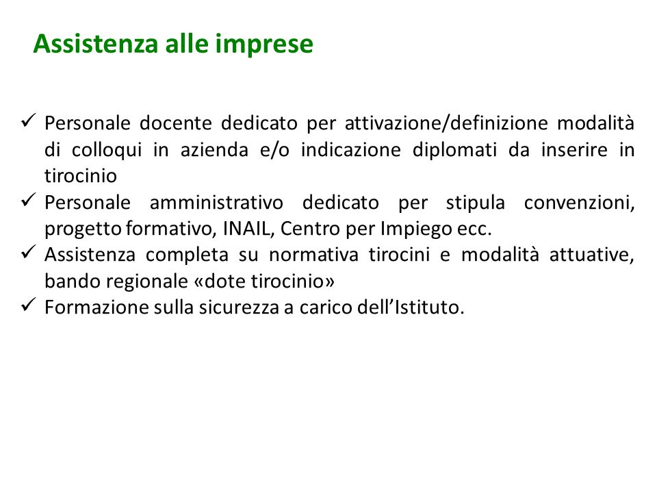 Assistenza alle imprese