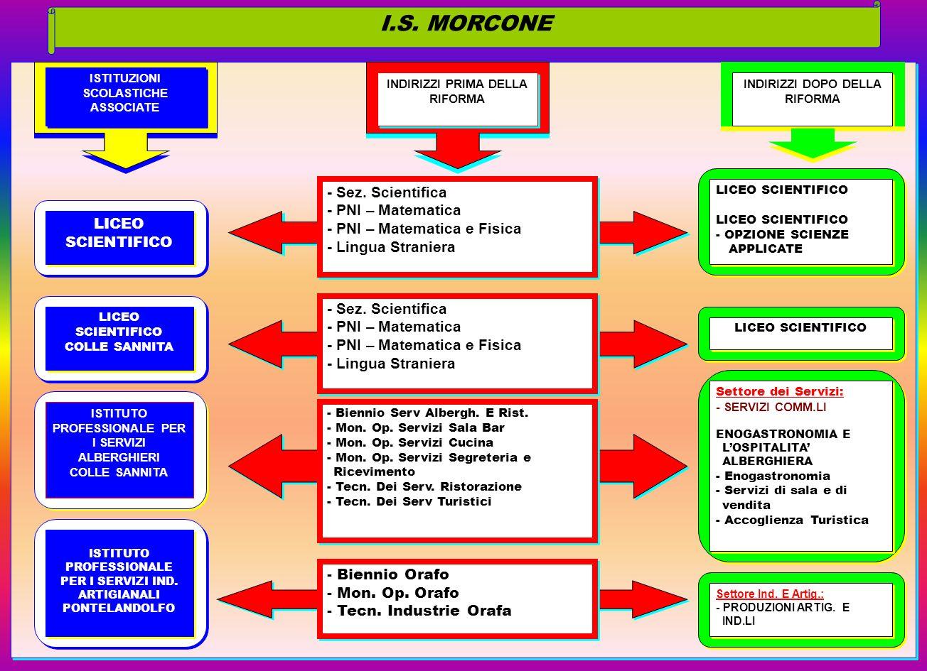 I.S. MORCONE - Sez. Scientifica - PNI – Matematica