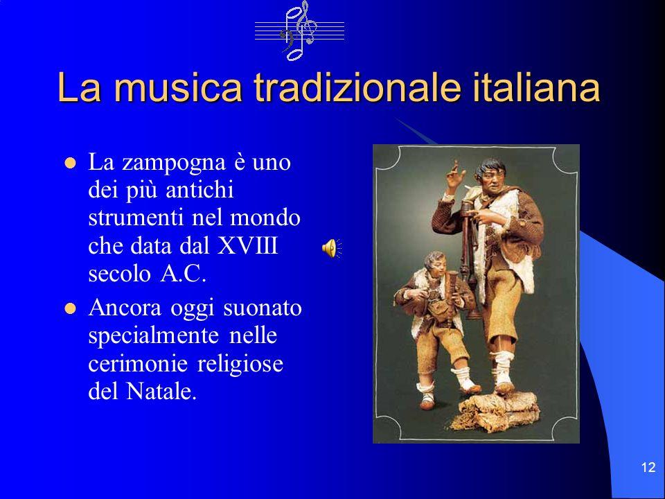 La musica tradizionale italiana